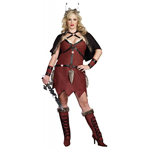 [GSG Viking Warrior Costume Sexy Medieval Barbarian Girl Halloween Dress] (Barbarian Warrior Costume)