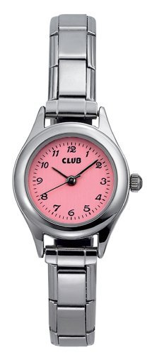 Club Girl`s Pink Deal with Stainless Steel Expansion Band Watch A65117S14A