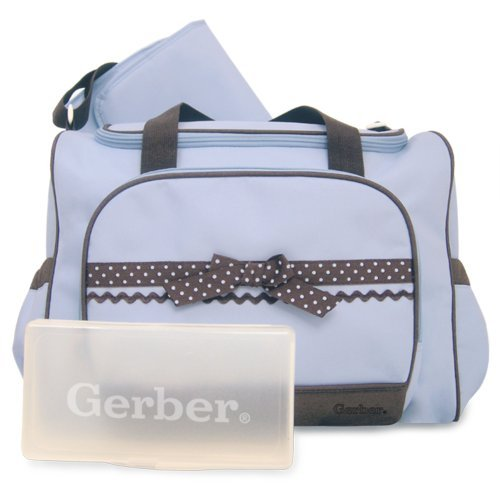 Gerber Duffel Style Diaper Tote Bag, Blue Color: Blue Nourrisson, bébé, enfant