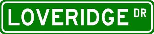 LOVERIDGE Street Sign ~ Personalized Family Lastname Sign ~ Gameroom, Basement, Garage Sign ** ALUMINUM - Buy LOVERIDGE Street Sign ~ Personalized Family Lastname Sign ~ Gameroom, Basement, Garage Sign ** ALUMINUM - Purchase LOVERIDGE Street Sign ~ Personalized Family Lastname Sign ~ Gameroom, Basement, Garage Sign ** ALUMINUM (The Lizton Sign Shop, Home & Garden,Categories,Patio Lawn & Garden,Outdoor Decor)
