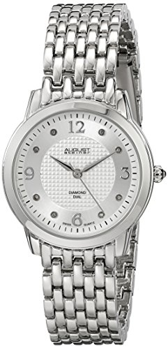 August Steiner Women's Swiss Quartz Watch with Silver Dial Analogue Display and Silver Alloy Bracelet AS8133SS