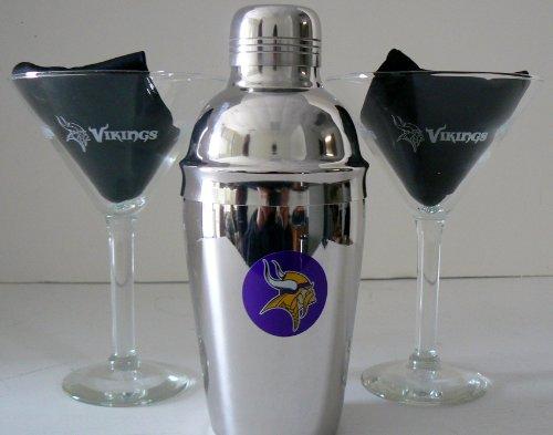 Nfl Officially Licensed Minnesota Vikings Martini Gift Set front-640435