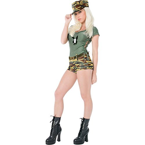 Sexy Playboy Army Girl Halloween Costume (Size: Small 6-8)
