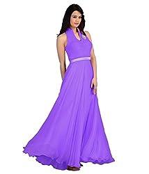 AP ENTERPRISE Purple Georgette Gowns