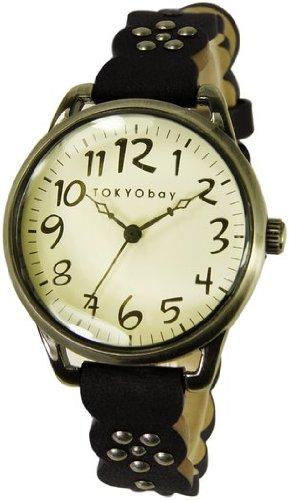tokyobay-t259-bk-orologio-da-donna-analogico-con-bordo-dentellato-colore-nero