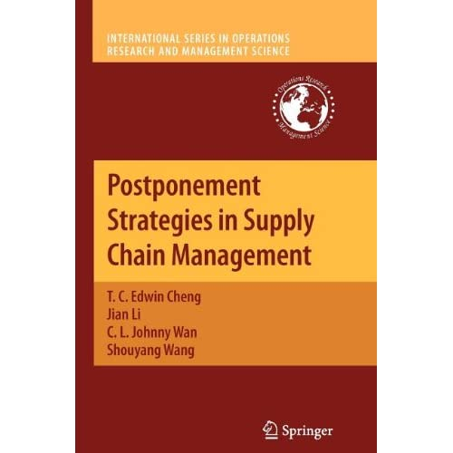 the supply chain postponement strategy analysis business essay At its core, postponement strategies in supply chain management analyzes how both pull postponement strategy and form postponement strategy can be leveraged to yield substantial benefits to adopting firms in different competitive environments.