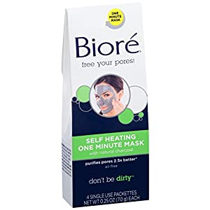 Biore Self Heating One Minute Mask 4 Ea TEJ