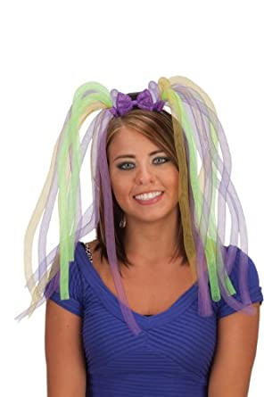 Jacobson Hat Company Women's Light-Up Mardi Gras Headband with Tubes and Bow, Multi, One Size