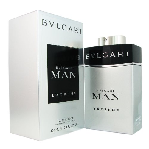 Bvlgari Man Extreme Cologne Spray for Men, 3.4 Ounce