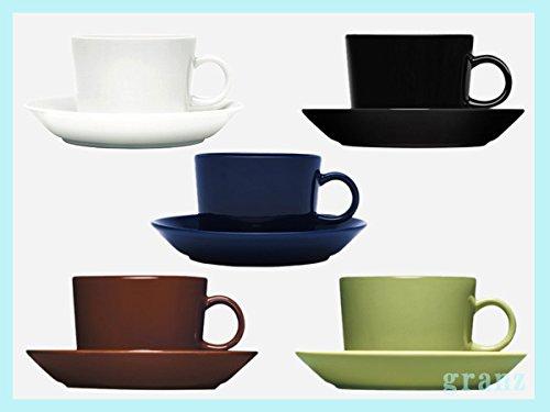 iittala ティーマ カップ&ソーサー 15cm teema cup & plate 2.Black [並行輸入品]