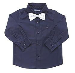 Campana Boys Shirt With Bowtie - Navy