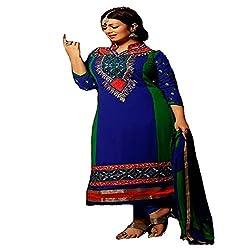 StarMart Fashionable Georgette Anarkali Unstitched Salwar Kameez-308