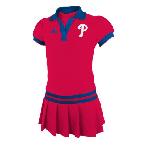 Philadelphia Phillies Girls (4-7) Red Adidas Polo Dress at Amazon.com