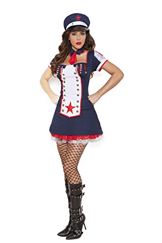 Sexy Women's Light Up Naval Knockout Nautical Adult Roleplay Costume