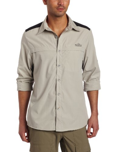Bear Grylls Men's Original Long Sleeve Shirt, Metal, X-Large