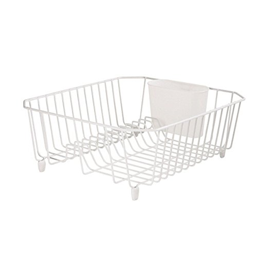 Rubbermaid Kitchen Sink Accessories: Rubbermaid AntiMicrobial In-Sink Dish Drainer, White