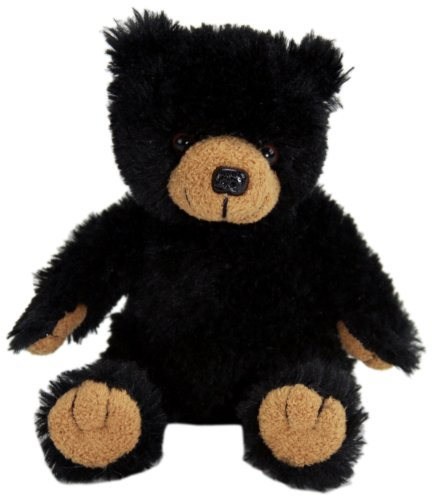"Purr-Fection Tender Friend Black Bear Sitting 6"" Plush"