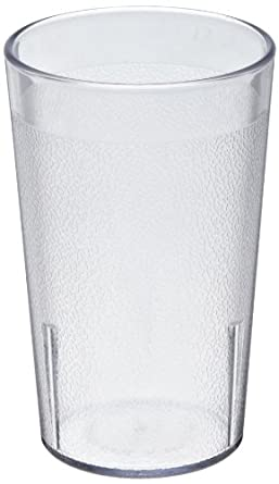 Cambro 950P 9.8 -Ounce Capacity 2-3/4-Inch Diameter by 4-3/8-Inch Height Camwear Clear Plastic Colorware Tumbler (Case of 12)