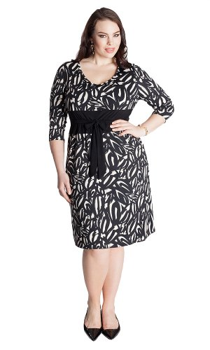 Igigi Women'S Plus Size Elsa Dress In Sumi-E 30/32
