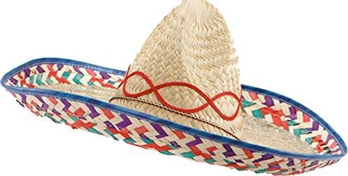 Fancy Dress Accessory Holiday Wild West Party Bandit Mexican Straw Sombrero Hat