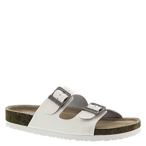 Skechers USA Granola-40742 Women's Sandal 10 B(M) US White-Shiny