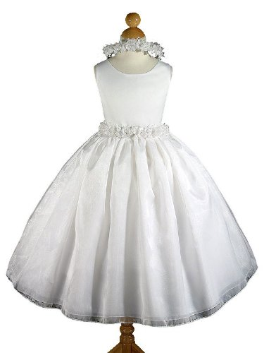 A8003a NEW White Flower Girl Communion Pageant Easter Dress Size 2 to 12 (10, White - Your order will be shipped out on the same or next business day. Orders arrive in 3 to 5 business days.)
