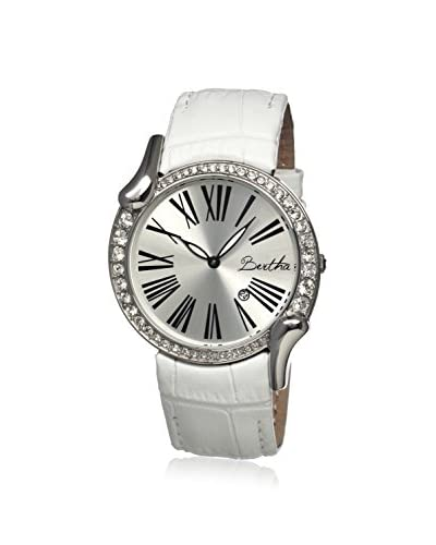 Bertha Women's BR2502 Olive White/Silver Leather Watch