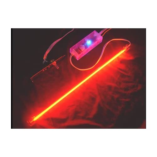 15 Logisys Deluxe Sound Activated Cold Cathode Complete Light Kit with Dual Output Inverter (Red)