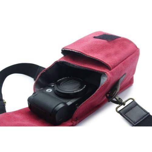 MegaGear  [ カメラバッグ] ショルダータイプ カメラバッグ インナーバッグ付  [Camera] のために Canon G16, G15, SX170, Sx160, SX510, SX500, Canon PowerShot SX700, Nikon L820, L830, P520, Sony NEX-5T, Sony NEX-3N, Sony DSC-RX100M II case, Sony DSC-HX50, Sony H200, Sony A5000 Cameras Olympus Stylus 1, G1x mark II