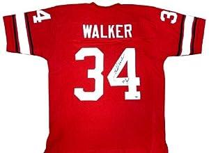 Herschel Walker Signed Georgia Bulldogs Red Custom NCAA Jersey with 82 Heisman...