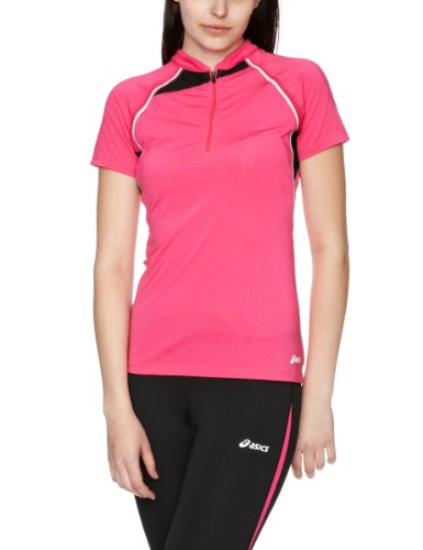 Asics Women's Short-Sleeve Half Zip Top