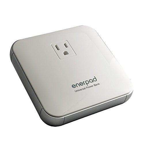 リンクスインターナショナル enerpad 12,000mAh モバイルバッテリー (2.4A /AC最大65W) ホワイト AP-12K-W