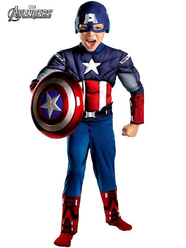 Disguise Boys Captain America Muscle Chest Avengers Kids Costume