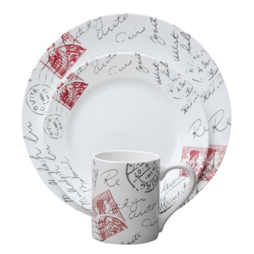 Corelle 16-Piece Impressions Sincerely Yours Dinnerware Set