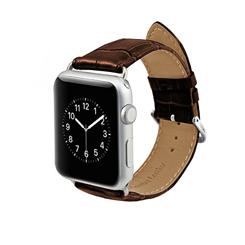 MPTECK ® sostituzione 42 mm Marrone pelle Watch Cinturino per intelligente orologio smart watch Apple Watch APPLE WATCH II apple watch Series 1 Series 2 Serie 1 2