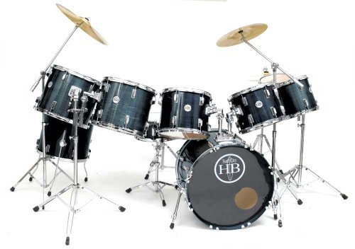 drum sets set components hb drums elite usa 9pc drum kit. Black Bedroom Furniture Sets. Home Design Ideas