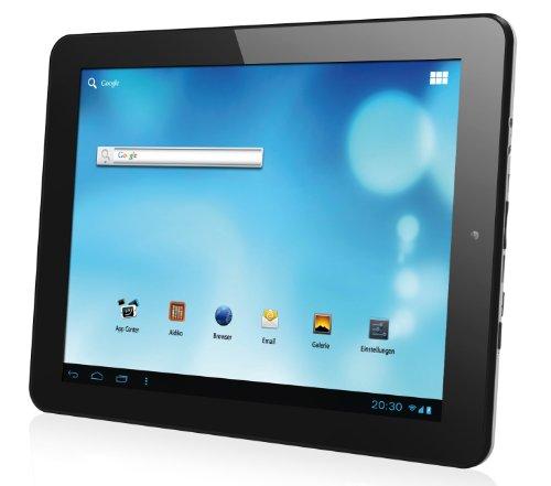 Odys Q 24,6 cm (9,7 Zoll) Tablet-PC (IPS HD-Touch Display (1024 x768),Cortex A8 Kernel, 1,2GHz, 1GB RAM, 8GB HDD, HDMI, Android 4.0, WLAN) schwarz/Alu
