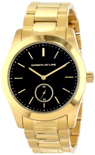 Kenneth Jay Lane Women's KJLANE-2309B Black Dial Gold Ion-Plated Stainless Steel Watch