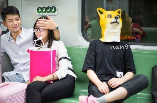 [Wow Doge Meme mask KABOSU Latex headgear Such Shiba Dog halloween US Shipping] (Goblin Costume Wow)