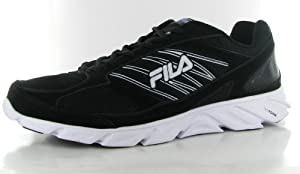 Fila Men's Radical Lite Sneaker, Blk/White/Metallic Silver, 13 M Us