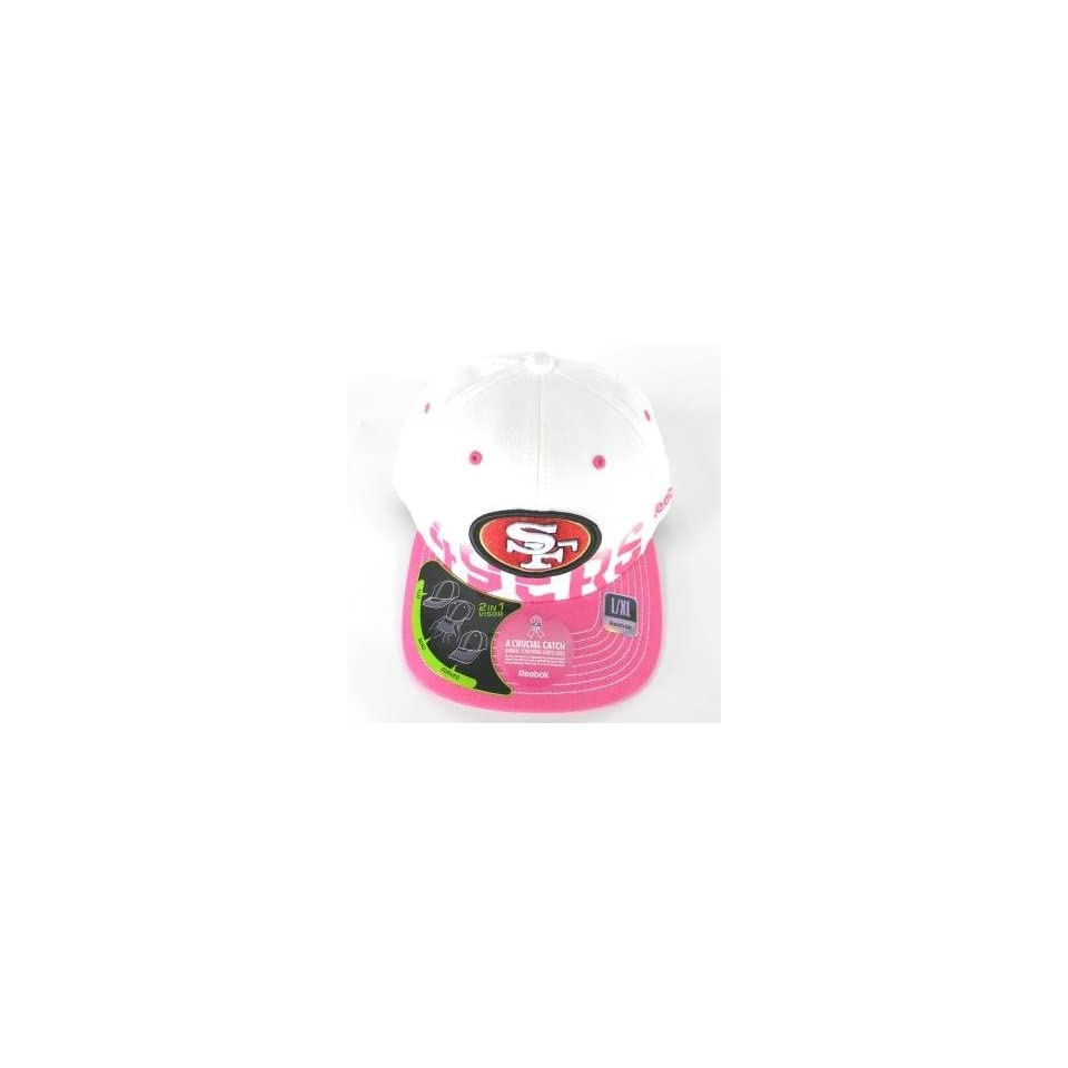 San Francisco 49ers Pink and White Breast Cancer Flex Fit Hat (S/M)