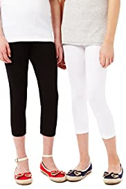 2 Pack Cotton Rich Leggings with Stay New™