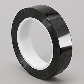 """TapeCase Metalized Polyester Film Tape 1/2"""" x 72yds - Black (1 Roll)"""