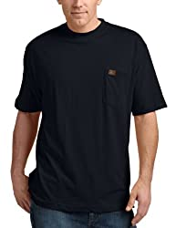 RIGGS WORKWEAR by Wrangler Men's Big & Tall Pocket T-Shirt, Navy, XXX-Large Tall