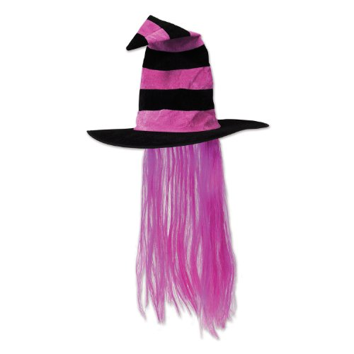 Beistle 00713-HP Witch Hat with Hair