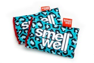 SmellWell, l'innovativo prodotto per eliminare gli odori da Scarpe, Borse da palestra, Guantoni da Boxe, ecc. (Blu Leopard)