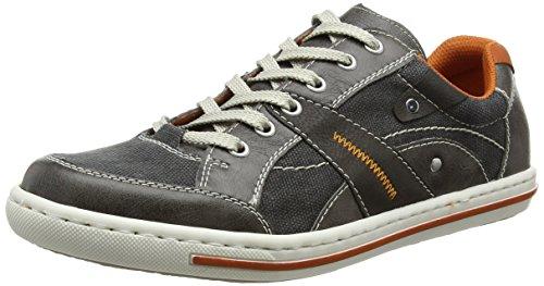 Rieker19013 Sneakers-Men - Scarpe da Ginnastica Basse Uomo , Grigio (Grau (stein/anthrazit/anthrazit/ziegel / 41)), 42
