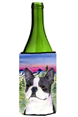 Boston Terrier Wine Bottle Koozie Koozie Hugger Ss8339Literk
