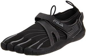 Fila Women's Skele-Toes EZ Slide Shoe,Black/Black/Castlerock,9 M US