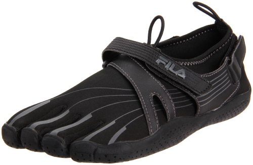 Fila Women's Skele-Toes EZ Slide Shoe,Black/Black/Castlerock,11 M US